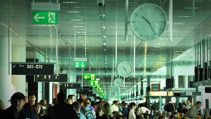 Airport Crowd Traveling Visa Waiver