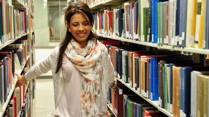 Fulbright Scholar Girl Woman in a Library